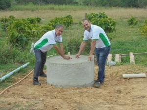 Construção de biodigestor em assentamento rural